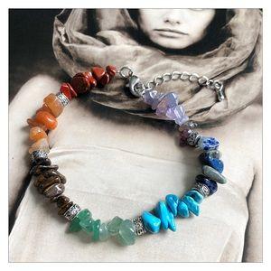 Natural Gemstone Chakra Healing Bracelet